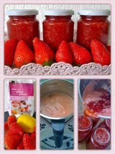 Collage Erdbeer Konfi machen