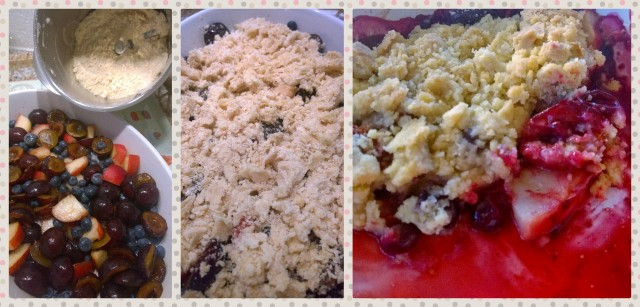 Collage Fruit Crumble