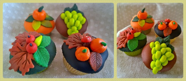 Collage Herbst Cupcakes