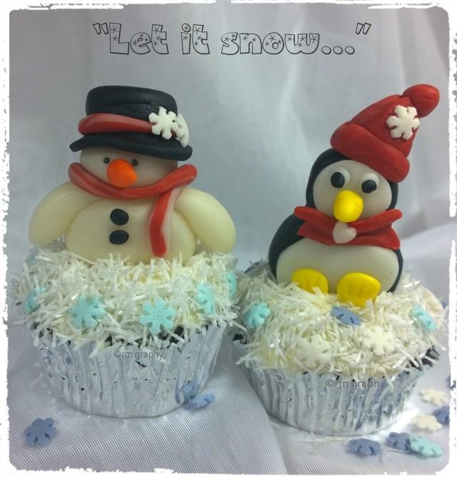Schneema & Pinguin let it snow definitv mit rahmen
