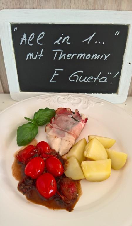 Pouletfilet mit Balsamico Tomaten und Kartöffelchen